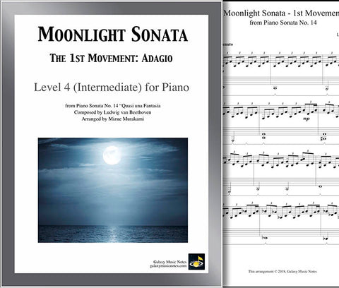 Moonlight Sonata | 1st MVMT | Level 4 - Cover & partial 1st page