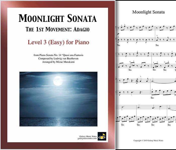 Moonlight Sonata | Easy piano sheet music - Galaxy Music Notes
