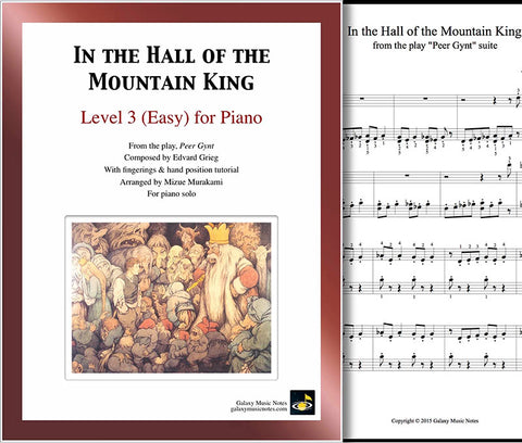 In the Hall of the Mountain King: Level 3 - cover sheet