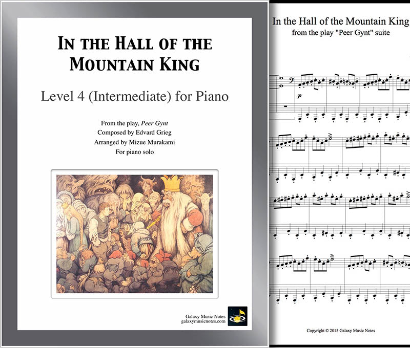 In the Hall of the Mountain King [Intermediate piano solo sheet]