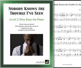 Nobody Knows the Trouble I've Seen Level 2 - Cover & page 1
