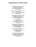 Nobody Knows the Trouble I've Seen: Lyrics page