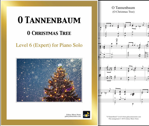 O Tannenbaum: Level 6 - 1st piano sheet & cover