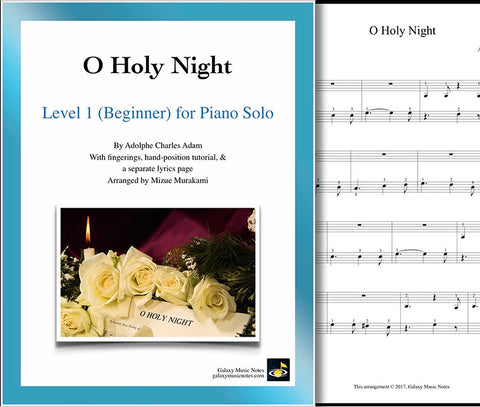O Holy Night Level 1 - Cover sheet & 1st page