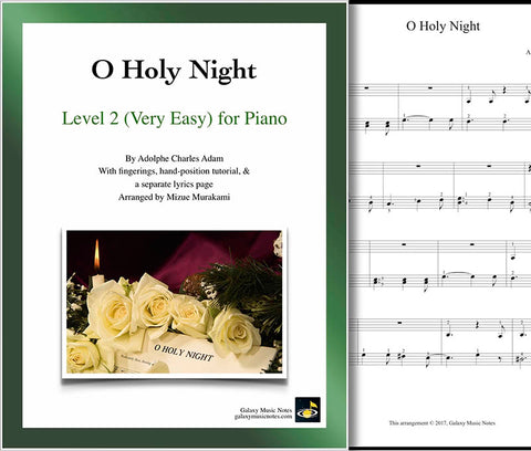 O Holy Night Level 2 - Cover sheet & 1st page