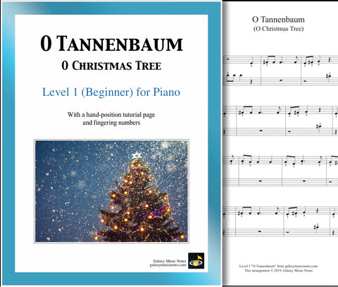 O Tannenbaum: Level 1 - 1st piano page & cover