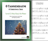 O Tannenbaum: Level 2 - 1st piano page & cover