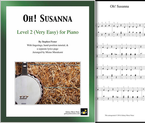 Oh Susanna Level 2 - Cover sheet & 1st page