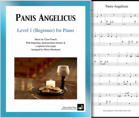 Panis Angelicus Level 1 - Cover sheet & 1st page