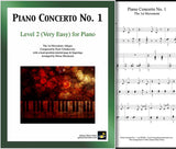 Piano Concerto No. 1 - 1st MVMT Level 2 - Cover & partial 1st page