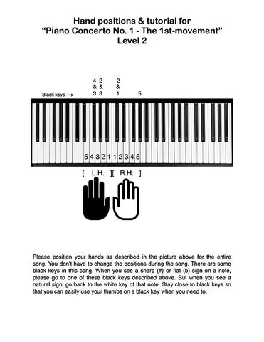 Piano Concerto No. 1 - 1st MVMT Level 2 - Tutorial page