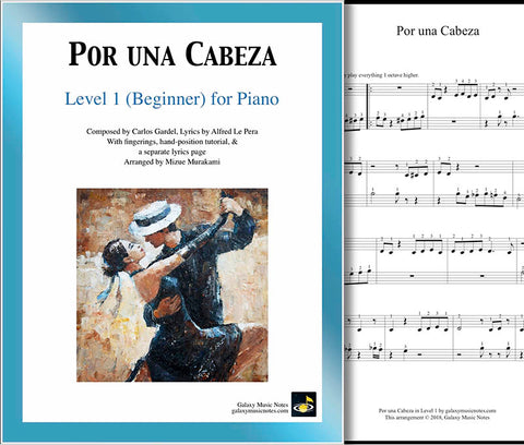 Por una Cabeza Level 1 - Cover sheet & 1st page