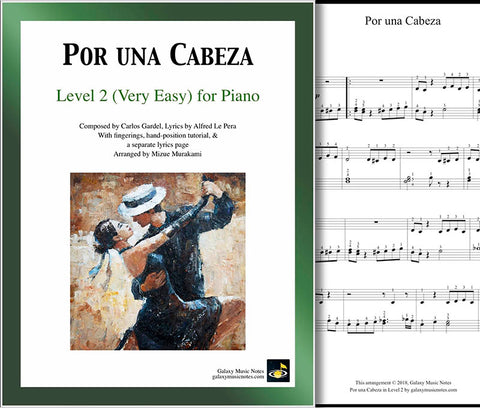 Por una Cabeza Level 2 - Cover & partial 1st page