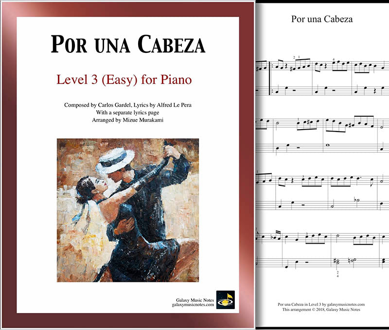 Por una Cabeza Level 3 - Cover sheet & 1st page