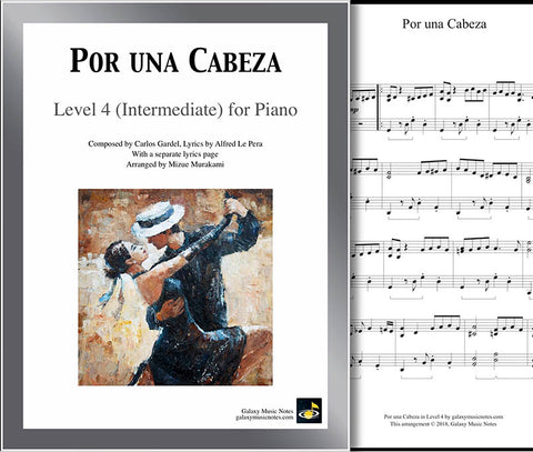Por una Cabeza Level 4 - Cover sheet & 1st page