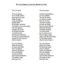 Por una Cabeza - Lyrics page in Spanish