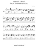 Prelude in C Major | J.S. Bach | Level 4 - 1st piano music sheet
