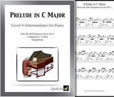 Prelude in C Major | Bach | Level 4 - Cover & 1st page