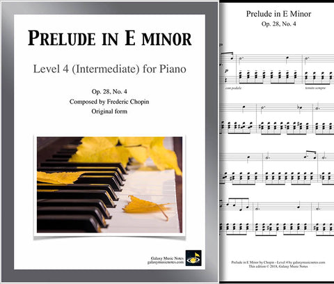 Prelude in E Minor Level 4 - Cover sheet & 1st page