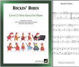 Rockin' Robin Level 2 - Cover sheet & 1st page