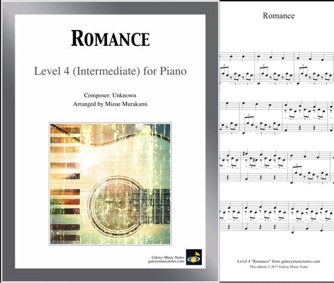 Romance de Amour Level 4 - Cover sheet & 1st page