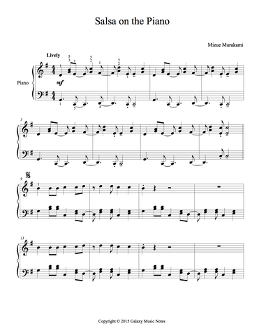 Salsa on the Piano Level 4 - 1st piano music sheet