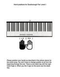 Tutorial page of Scarborough Fair Level 1 piano sheet music