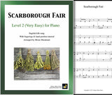Cover of Scarborough Fair Level 2 piano sheet music