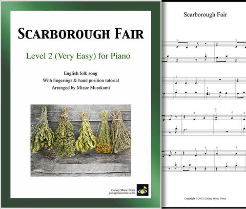 Scarborough Fair Level 2 - Cover sheet & 1st page