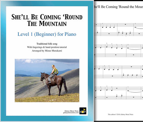 She'll Be Coming Round the Mountain Level 1 - Cover & 1st piano sheet