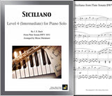 Siciliano Sonata BWV 1031 Level 4 - Cover & 1st page