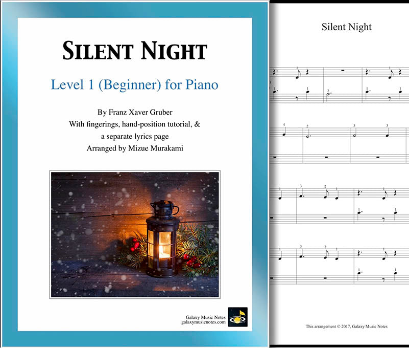 Silent Night Level 1 - Cover sheet & 1st page