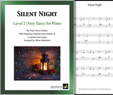 Silent Night Level 2 - Cover sheet & 1st page