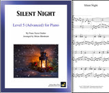 Silent Night: Level 5 - 1st piano page & cover