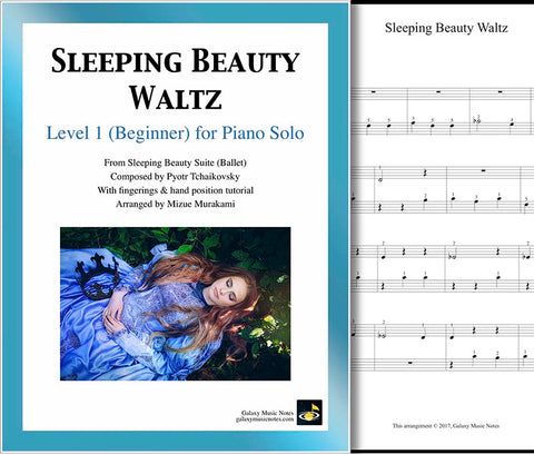 Sleeping Beauty Waltz Level 1 - Cover sheet & 1st page