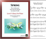 Spring Four Seasons Mvmt 1 Level 3: 1st piano sheet & cover