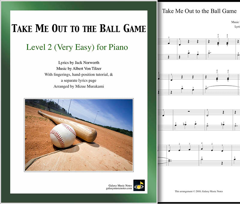 Take Me Out to the Ball Game Level 2 - Cover & 1st page