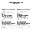 Take Me Out to the Ball Game - Lyrics page