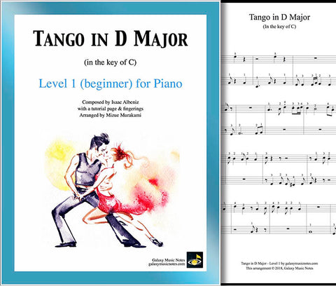 Tango in D Major Level 1 - Cover & partial 1st page