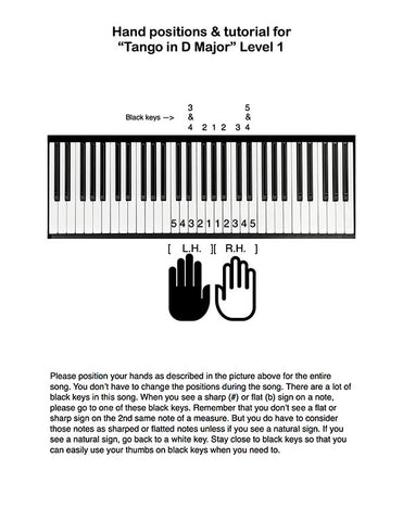 Tango in D Major Level 1 - Tutorial page