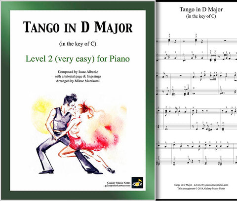 Tango in D Major Level 2 - Cover & partial 1st page