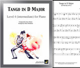 Tango in D Major Level 4 - Cover & partial 1st page