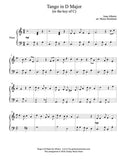 Tango in D Major Level 4 - 1st piano music sheet