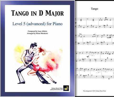 Tango in D Major Level 5 - Cover sheet & 1st page