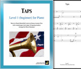 Taps Level 1 - Cover & 1st piano sheet