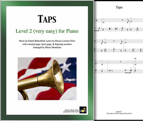 Taps Level 2 - Cover & 1st piano sheet