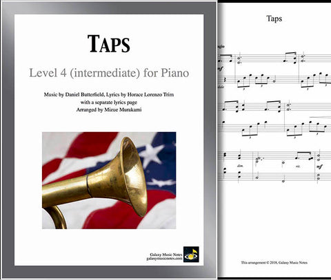 Taps Level 4 - Cover & 1st piano sheet