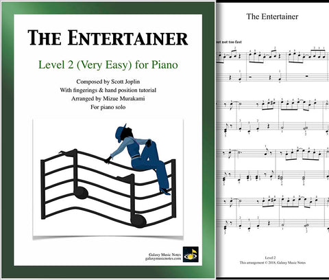 The Entertainer Level 2 - Cover sheet & 1st page