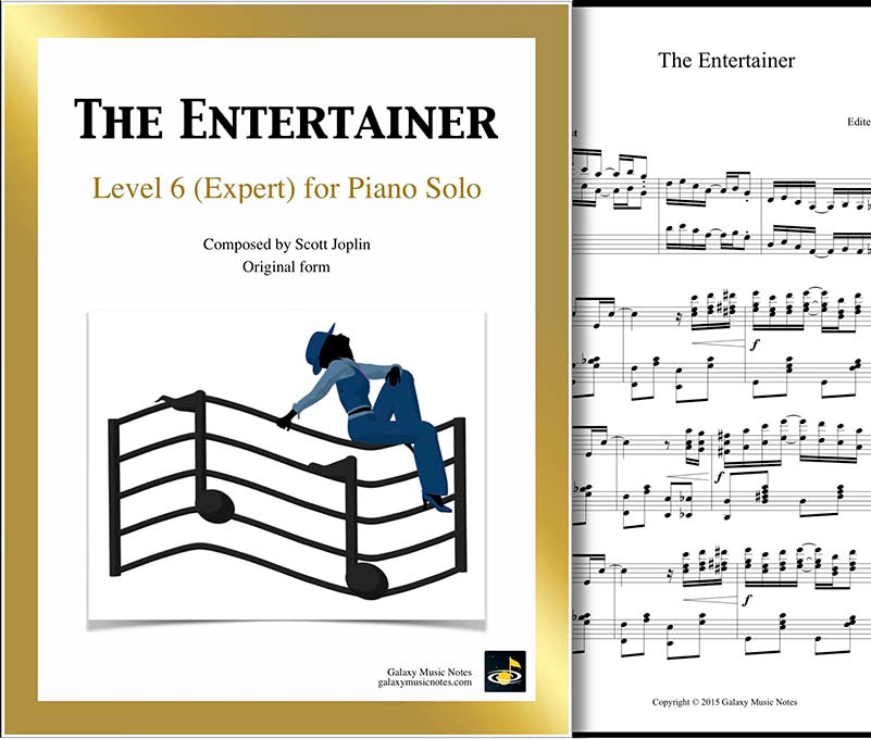 The Entertainer Level 6 - Cover sheet & 1st page