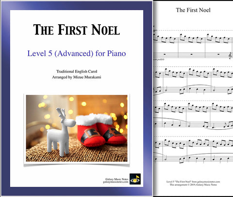 The First Noel: Level 5 - 1st piano page & cover